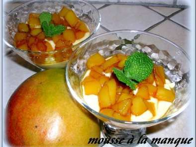 MOUSSE DE DE BROCCIU AUX MANGUES CARAMELISEES, Photo 2