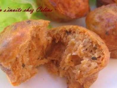muffins au thon et la pur e de tomates recette ptitchef. Black Bedroom Furniture Sets. Home Design Ideas