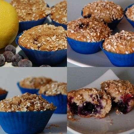 muffins aux flocons d avoine au citron et aux bleuets sans gluten recette ptitchef