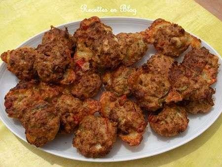 muffins viande mozzarella poivron rouge cebette recette ptitchef. Black Bedroom Furniture Sets. Home Design Ideas