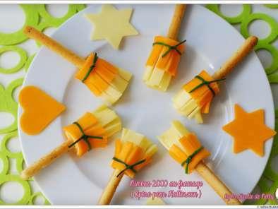 nimbus 2000 au fromage apero halloween recette ptitchef. Black Bedroom Furniture Sets. Home Design Ideas