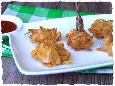 Nuggets de poulet aux corn Flakes.