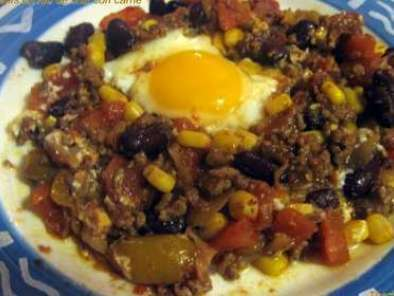 Oeufs en nid de chili con carne, photo 2