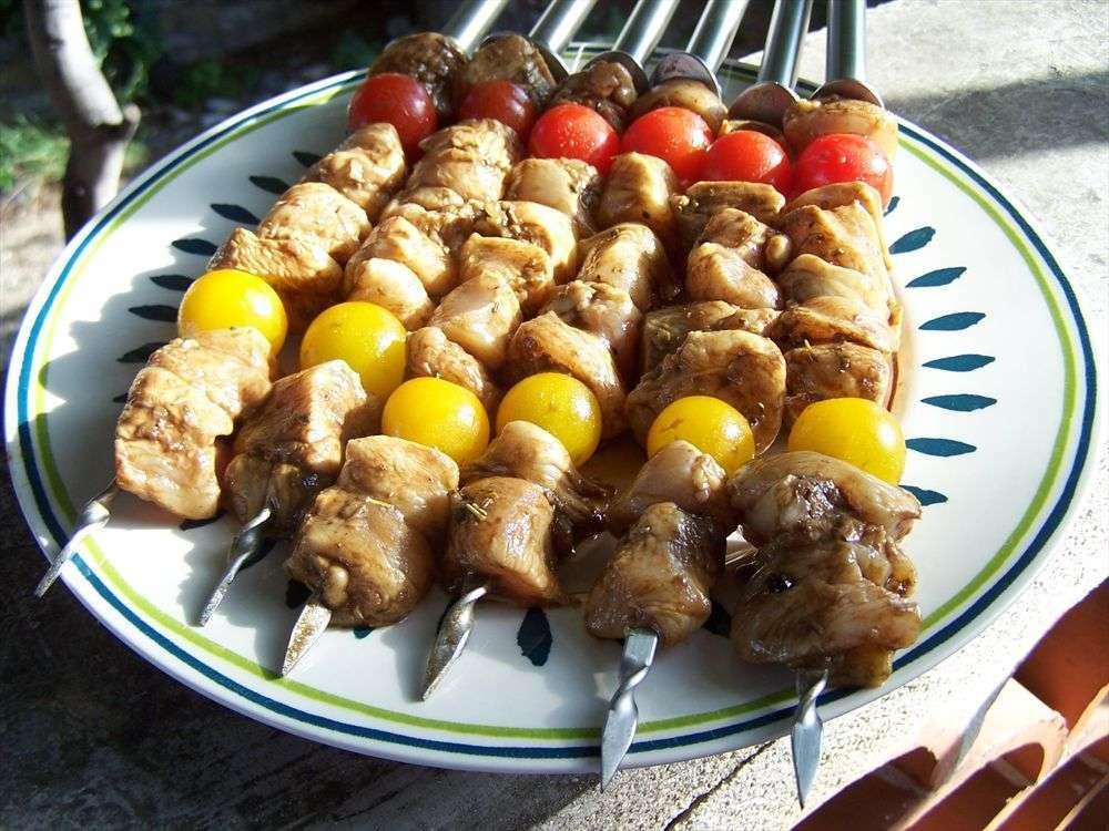 Olala des brochettes de poulet au balsamique recette - Accompagnement sardines grillees barbecue ...