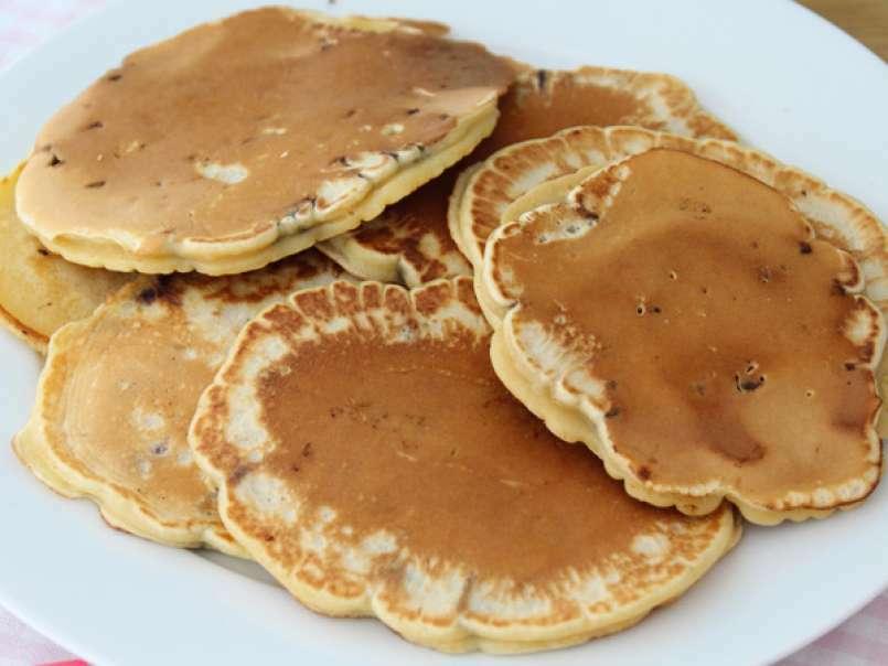 Pancakes aux pépites de chocolat, Recette Ptitchef