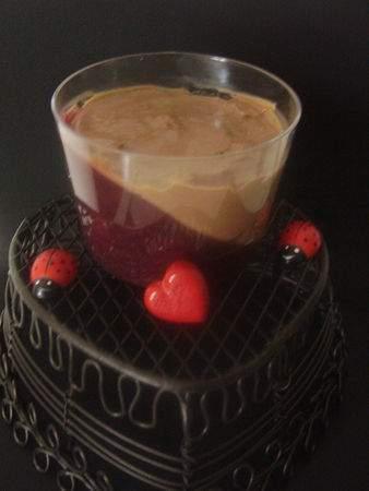 panna cotta au chocolat sur son coulis de framboises recette ptitchef. Black Bedroom Furniture Sets. Home Design Ideas