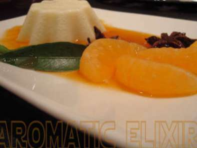 Panna cotta et son élixir de mandarines, Photo 2