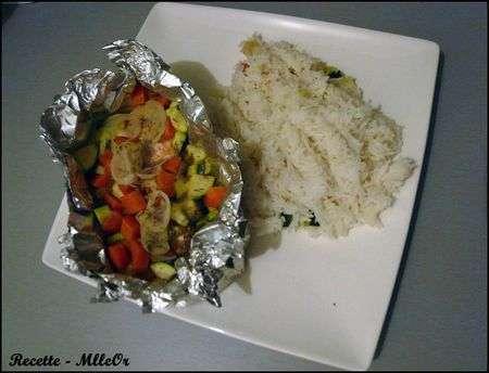 papillotes de saumon au rice cooker recette ptitchef. Black Bedroom Furniture Sets. Home Design Ideas