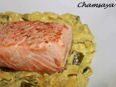 Pave De Saumon Sur Son Lit De Poireaux Au Curry Recette Ptitchef
