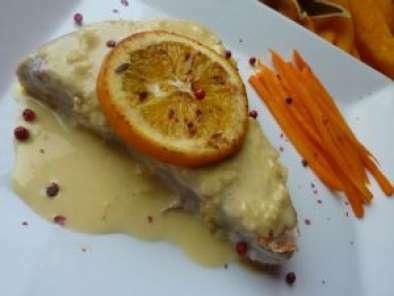 pav de thon gris sauce l 39 orange recette ptitchef. Black Bedroom Furniture Sets. Home Design Ideas