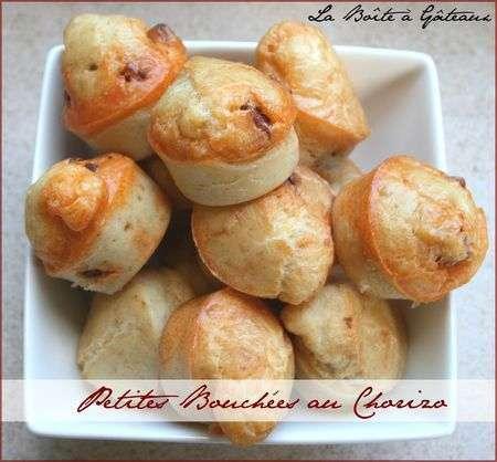 Petites bouch es au chorizo pour ap ritif sympa recette for Petite entree sympa