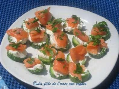 petits canaps subito presto au concombre saumon fum et chvre - Canapes Aperitif Originaux