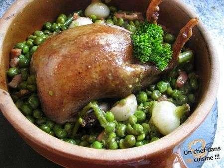 Pigeonneau aux petits pois recette ptitchef - Comment cuisiner les petits pois ...
