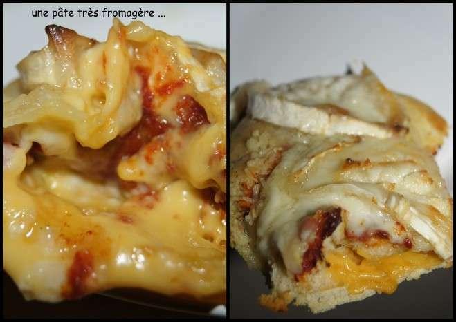 pizza la p te moelleuse et paisse avec le fromage dans la p te recette ptitchef. Black Bedroom Furniture Sets. Home Design Ideas