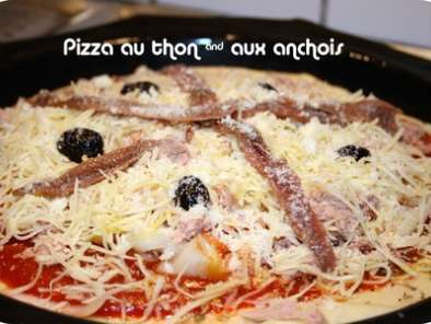Pizza au thon & anchois ou câpres & anchois, Photo 3