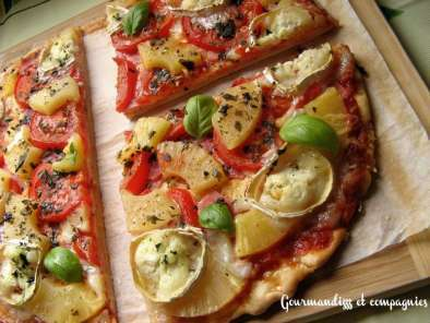 Pizza Chèvre Tomates Ananas, Photo 2