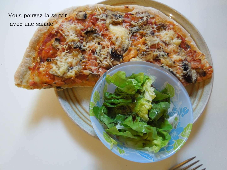 pizza jambon champignon recette maison de la p te recette. Black Bedroom Furniture Sets. Home Design Ideas