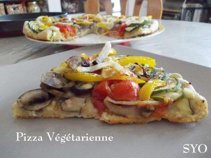 Pizza végétarienne du petit bistro de mamigoz, Recette ...