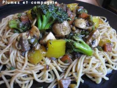 Poelee De Legumes Et Nouilles Chinoises Recette Ptitchef