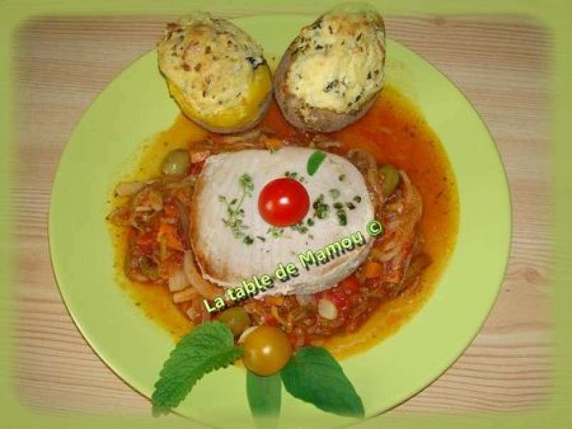 Pommes de terre au four, au fromage frais, Recette Ptitchef