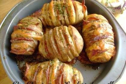 Pommes de terre papillon cheddar bacon recette ptitchef - Pomme papillon ...