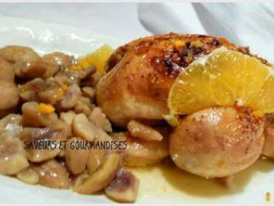 POULET AUX MARRONS ET JUS d''AGRUMES., Photo 2