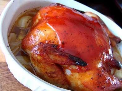 Poulet laqu sauce barbecue maison recette ptitchef - Recette sauce barbecue maison ...