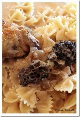 poulet sauce au vin jaune et aux morilles recette ptitchef. Black Bedroom Furniture Sets. Home Design Ideas