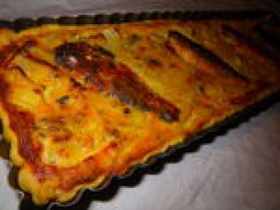 quiche fenouil et sardines la tomate recette ptitchef. Black Bedroom Furniture Sets. Home Design Ideas