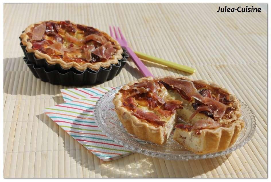 Quiche l g re au boursin et au jambon cru recette ptitchef for Entree rapide et legere