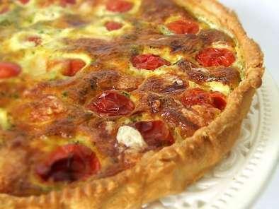 Quiche Tomates Cerises Lardons Mozzarella Et Basilic Recette Ptitchef