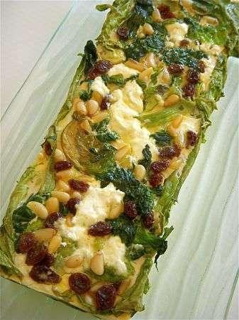 Quinzaine de la salade terrine reine des glaces ch vre pignons et raisins secs recette - Salade reine des glaces ...