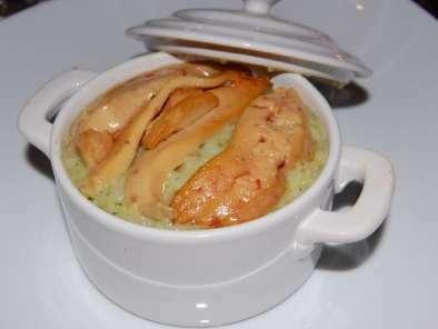 risotto au pesto de pistaches et foie gras recette ptitchef. Black Bedroom Furniture Sets. Home Design Ideas