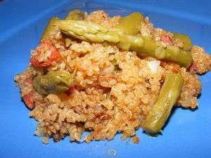 risotto de quinoa aux asperges vertes et chorizo ou quinoaotto recette ptitchef. Black Bedroom Furniture Sets. Home Design Ideas