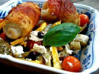 Roulade De Poulet Jambon Italien Au St Moret Tomates Sechees