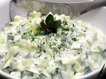Salade Allegee Concombre Amp Fenouil Et Menthe Au Fromage