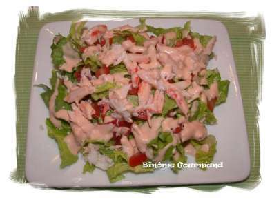 Salade au crabe, à la sauce rose, photo 2