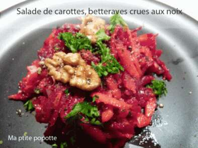 salade aux couleurs de l 39 automne carottes betteraves crues noix recette ptitchef. Black Bedroom Furniture Sets. Home Design Ideas