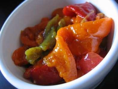 Salade color s de poivrons grill s recette ptitchef - Salade de poivrons grilles ...