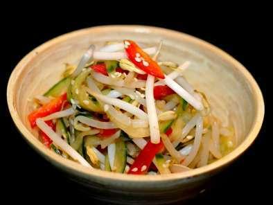 Salade concombre/soja/poivron à la japonaise, Recette Ptitchef
