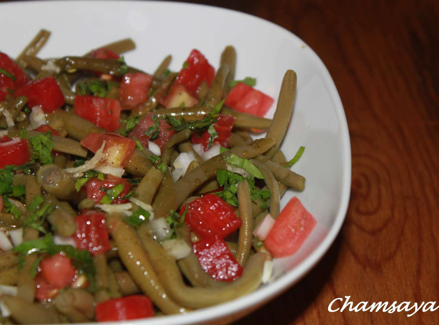 salade de haricots verts et tomates recette ptitchef. Black Bedroom Furniture Sets. Home Design Ideas