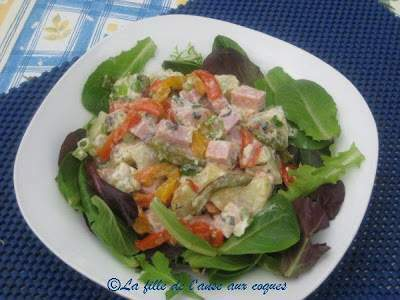 Salade de jambon et pommes de terre aux poivrons grill s - Salade de poivrons grilles ...