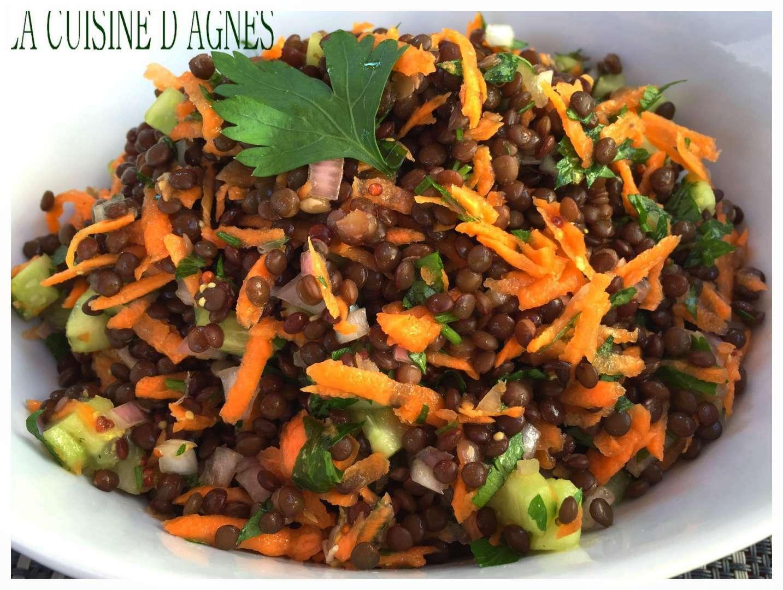 Salade de lentilles beluga recette ptitchef - Recette comment cuisiner les lentilles ...