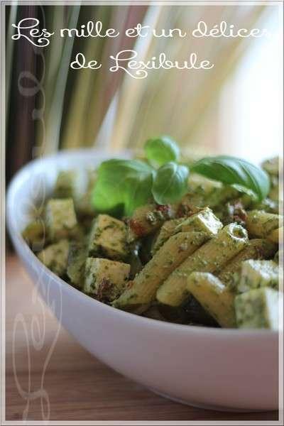 salade de p 226 tes 224 la feta et au pesto recette ptitchef
