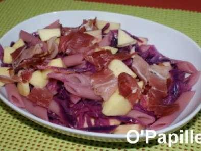 Salade De Pâtes Au Chou Rouge Recette Ptitchef - Cuisiner du chou rouge