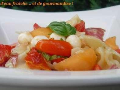 Salade De Pates Facon Melon A L Italienne Recette Ptitchef