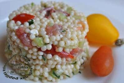 Salade de p tes jambon f ta concombres tomates et ciboulette recette ptitchef - Salade de pates jambon ...