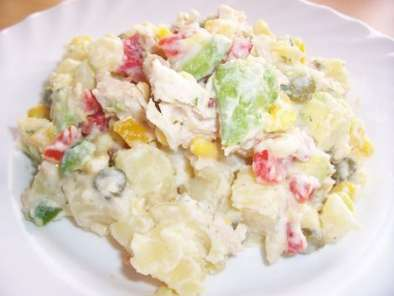 salade de pommes de terre avocat poulet l gumes sauce citron recette ptitchef. Black Bedroom Furniture Sets. Home Design Ideas
