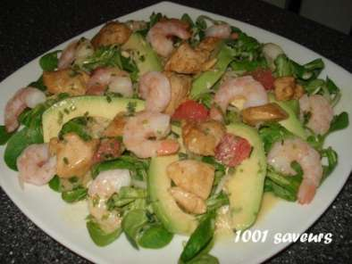 salade de poulet marin crevettes et pamplemousse rose de. Black Bedroom Furniture Sets. Home Design Ideas