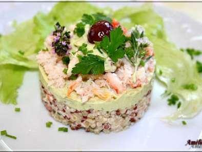 salade de quinoa et boulgour avocat et crabe recette ptitchef. Black Bedroom Furniture Sets. Home Design Ideas